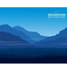 Landscape with huge blue mountains vector image