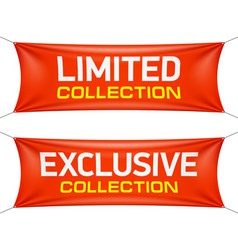 Limited and exclusive collection banners vector