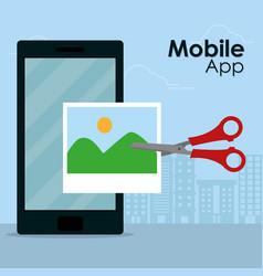 Mobile app technology vector