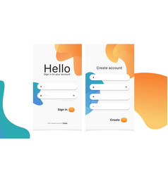 modern login form page vector image