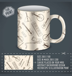 musical art design for print on a cup vector image