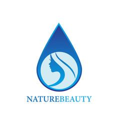 nature beauty logo vector image
