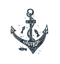 Nautical lettering design vector