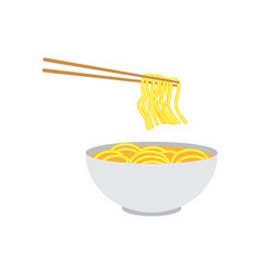noodles icon design template vector image