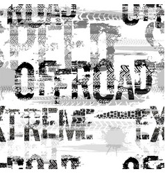 offroad seamless pattern vector image