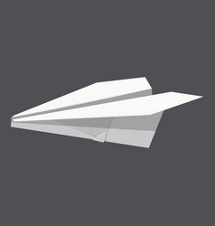 Origami paper plane concept background realistic vector
