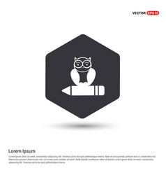 Owl icon hexa white background icon template vector