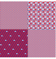 Patriotic patterns vector