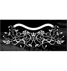 pattern and ribbon vector image