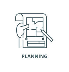 planning line icon linear concept outline vector image