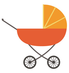 pram with newborn kid isolated stroller vector image