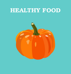 pumpkin flat pumpkin logo pumpkin icon vector image
