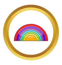 Rainbow LGBT icon vector