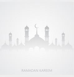 Ramadan kareem greeting background with mosque vector