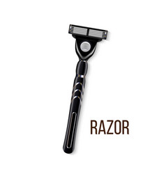 realistic man steel shaving razor for face vector image