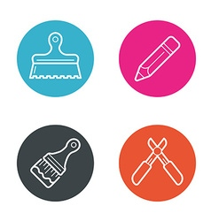 Round Circle Buttons with Icons can be used as vector