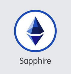 Sapphire cryptocurrency sph coin symbol vector