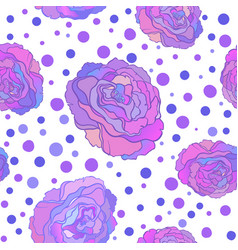 seamless pattern with flowers roses floral vector image