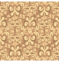 Seamless vintage brown background vector image