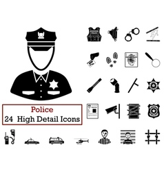 Set of 24 Police Icons vector