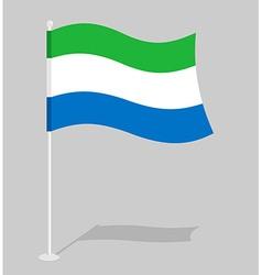Sierra Leone flag Official national mark of Sierra vector image