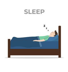 Sleep well to start tomorrows activity vector