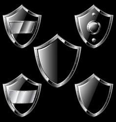 steel shields vector image