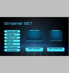 Streamer set kit graphic elements vector