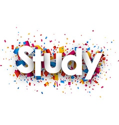 Study sign vector image