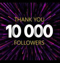 Thank you 10000 followers purle abstract festive vector