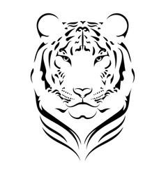Tiger logo black white a tiger vector