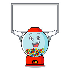 Up board gumball machine character cartoon vector
