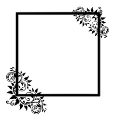 Vintage frame on white background vector