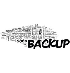 Web site backup essentials that you should live vector