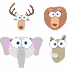 animal eyes vector image