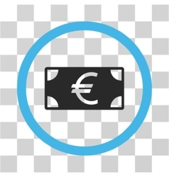Euro Banknote Flat Rounded Icon vector image vector image