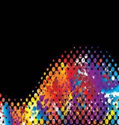 halftone rainbow wave vector image vector image