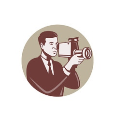 Photographer Shooting Video vector image vector image