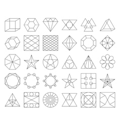 Set of trendy geometric icons vector image