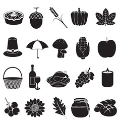Thanksgiving and harvest icons vector image vector image