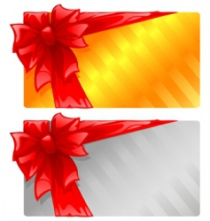 two gift cards vector image vector image