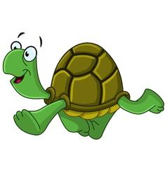 walking turtle vector image vector image
