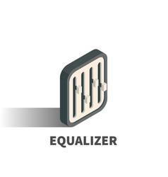 equalizer icon symbol vector image