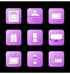 icon appliances vector image
