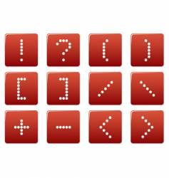matrix symbol square icons vector image vector image