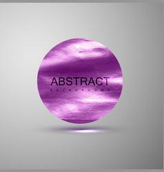 Purple metallic paint stain banner vector image vector image