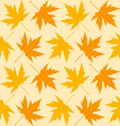 Seamless textures of autumn leaves vector image vector image
