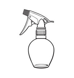 unlabeled transparent plastic hairdresser spray vector image