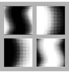 Set of Abstract Halftone Backgrounds vector image vector image