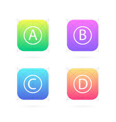 creative set of app icon vector image